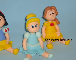 Topo de bolo princesas em biscuit