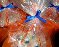Buqu� de marshmallows azul marinho