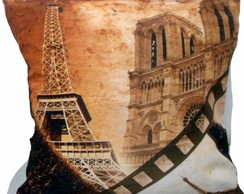 ALMOFADA VINTAGE - PARIS IS NOTRE DAME