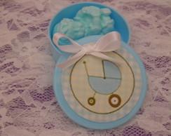 latinha co sabonete de beb� azul