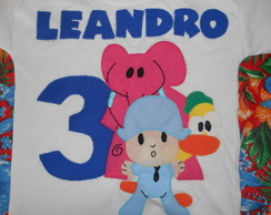 camiseta personalizada do pocoyo