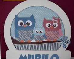 Porta De Maternidade 3d Mdf - Coruja