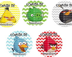 R�tulo Latinha Mint to be Angry Birds
