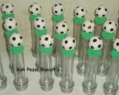tubete bola de futebol em biscuit