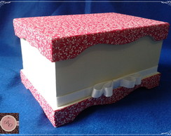 Caixa MDF pintada e forrada
