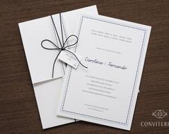 Convite Casamento Afeto Papel Branco