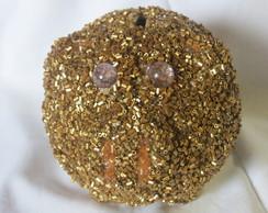 Cofre Porco Cer�mica Ouro 695