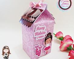 Caixa de leite Tema Bailarina