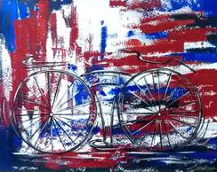 Pintado A M�o Quadro Bike 70x90 Cod 732