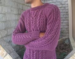 Blusa de trico masculina vinho