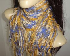 gola cachecol em croch� feminino