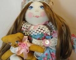 Boneca Natalie e seu ursinho