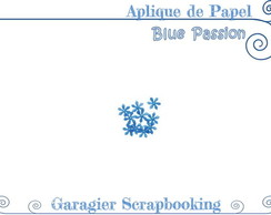 ♥ Aplique de Flores - Blue Passion