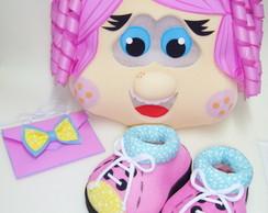 Kit Cabe��o Menina cabelo rosa