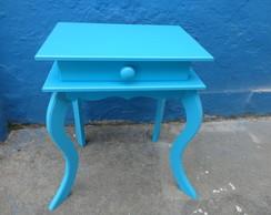 Criado mudo 1 gaveta azul