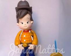 Menino vestido de Wood - Toy Story