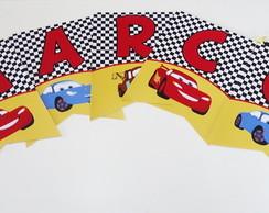 Bandeirola Tema Carros Disney