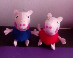 Mini Bonecos Peppa Pig e George