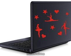 Adesivos de notebook bailarinas estrelas