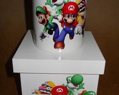 Caneca Com Caixa - Mario
