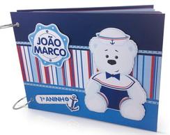 �lbum Com Caixa Urso Marinheiro