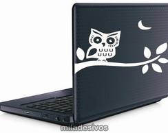 Adesivos de notebook coruja no galho