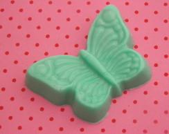 sabonete em forma borboleta verde