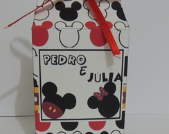 Caixa silhueta Mickey e Minnie