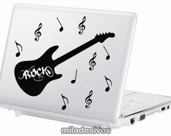 Adesivos de notebook guitarra de rock