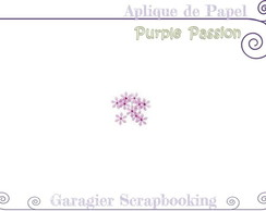♥ Aplique de Flores - Purple Passion