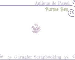 ♥ Aplique de Flores - Purple Bell