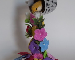 X�cara Decorada com Flores em Eva