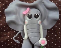 Topo de bolo Elefante