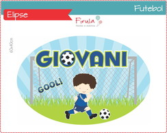 Placa Elipse Digital Futebol