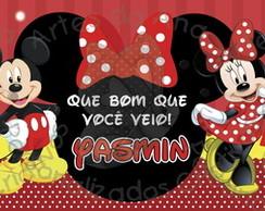 Mickey e Minnie R�tulo Lata Ninho