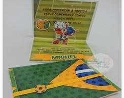 Convite Pop Up futebol