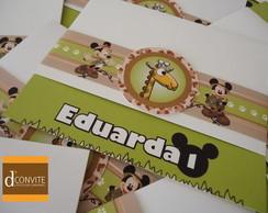 Convite de Anivers�rio Safari Disney