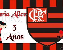Arte Digital Flamengo Menina