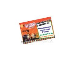 Convite 10x15cm Scooby Doo Halloween