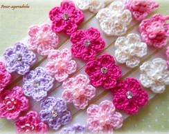 Lacinho Florzinha de Croch� - Rosa