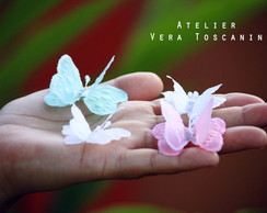 Mini borboletas de papel vegetal