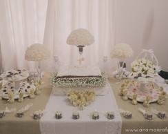 Decora��o Batizado Neutral Chic