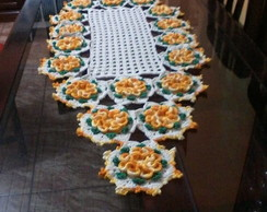 caminho de mesa em croch�