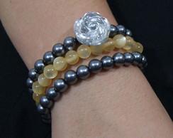 kit pulseiras com p�rolas sint�ticas