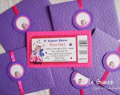 Convite Ingresso - Barbie Pop Star