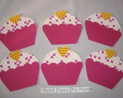 Aplique barrado cupcake p pano de copa