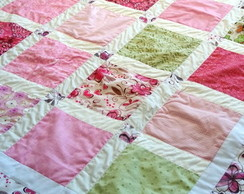 Manta para cama em patchwork