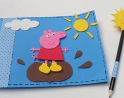 Caderno de desenho Peppa Pig