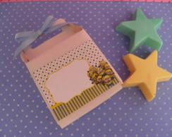 caixinha 2 sabonete de estrela minions