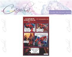 Convite Digital Gibi Homem Aranha